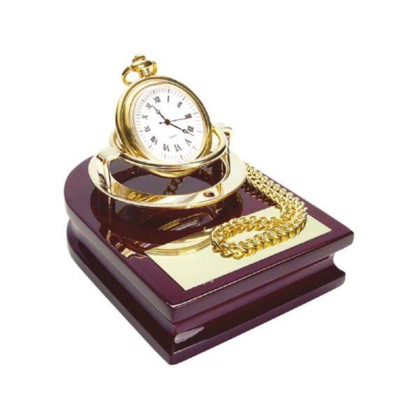 Часы «Магистр» на деревянной подставке с цепочкой