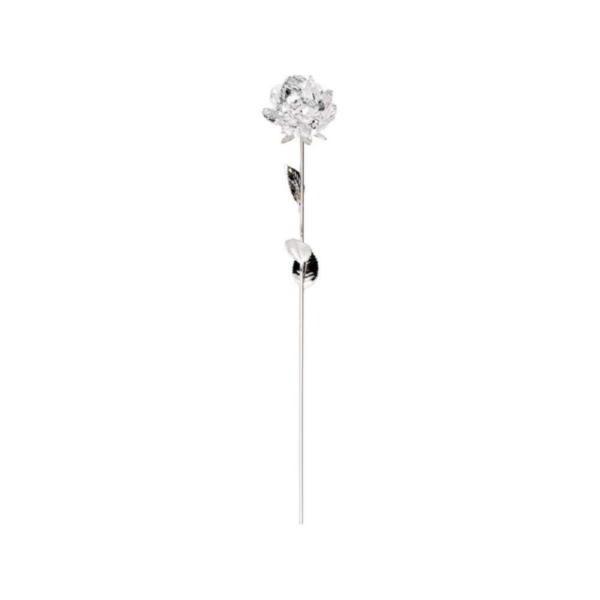 Роза серебрянная с хрустальным бутоном