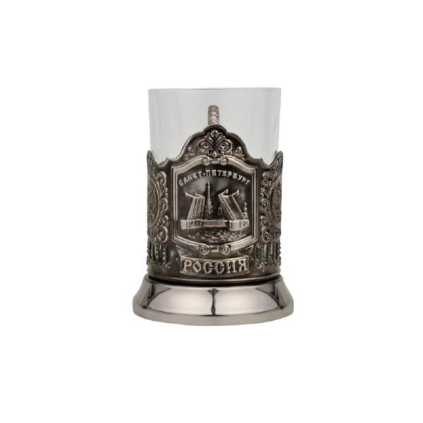 Набор «Санкт-Петербург»: стакан с подстаканником и ложкой