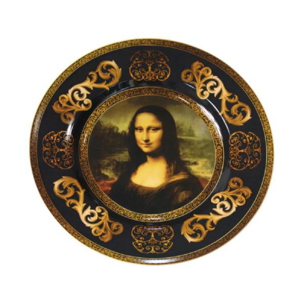 Подарочный набор «Мона Лиза»: блюдо для сладостей, две кружки